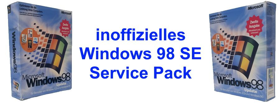 inoffizielles Windows 98 SE Service Pack